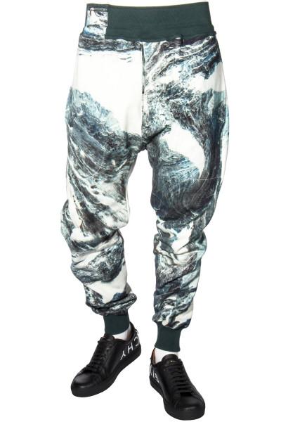 KATHARINE HAMNETT Sweatpants Jerrry Rock Marbel Print