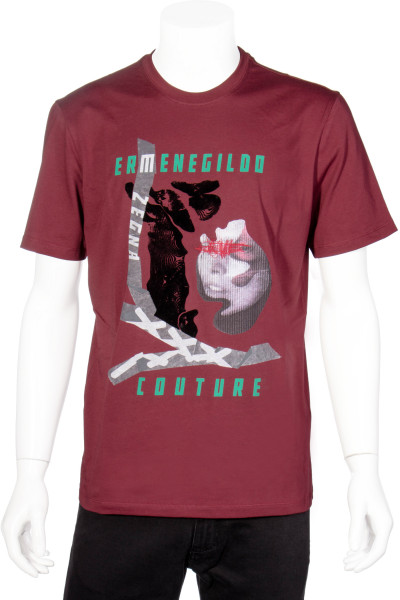 ERMENEGILDO ZEGNA COUTURE Printed T-Shirt Logo Collage