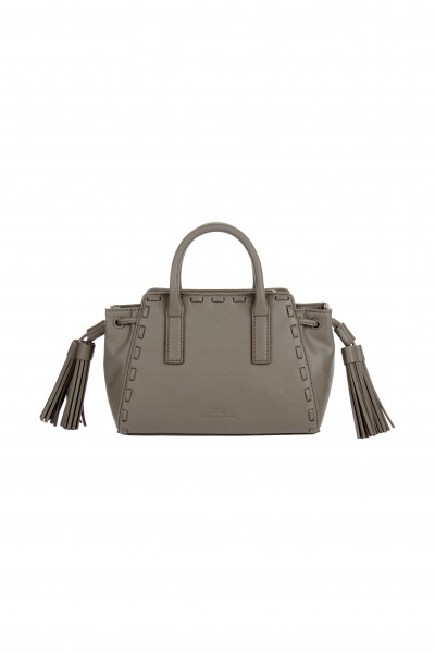 ELISABETTA FRANCHI Mini Bauletto Bag with Tassels