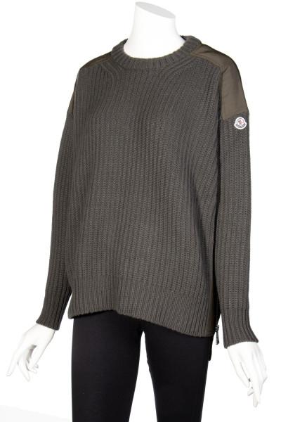 MONCLER Knit Sweater Zip Details