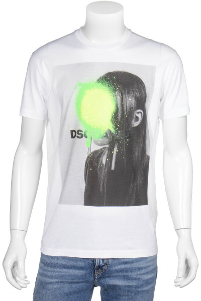 DSQUARED2 Printed T-Shirt Neon Splash