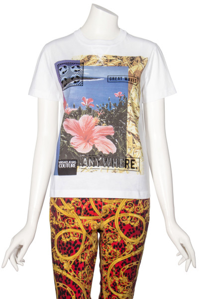 VERSACE JEANS COUTURE Flower Printed T-Shirt