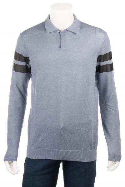 EMPORIO ARMANI Linen-Viscose Poloshirt