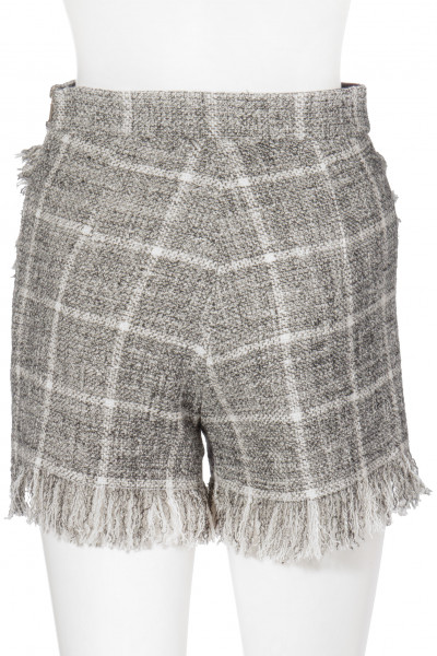 ELISABETTA FRANCHI Checked Carpet Shorts