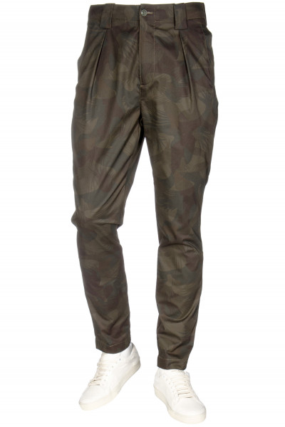 ETRO Pleated Pants Camouflage