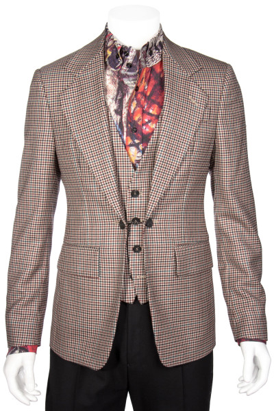 VIVIENNE WESTWOOD Checked Blazer Integrated Vest