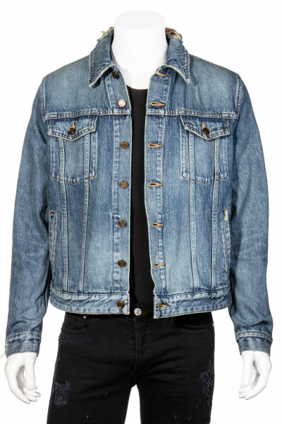 SAINT LAURENT Bandana Denim Jacket