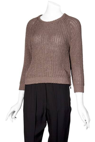 ELISABETTA FRANCHI Knit Sweater Side Zip Detail