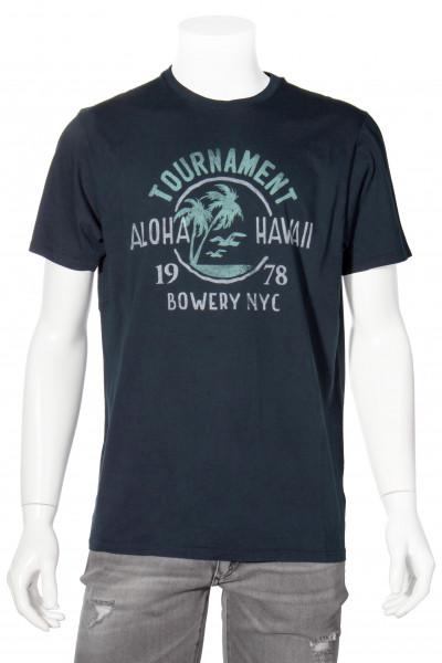 BOWERY Printed T-Shirt BWTMA Navy