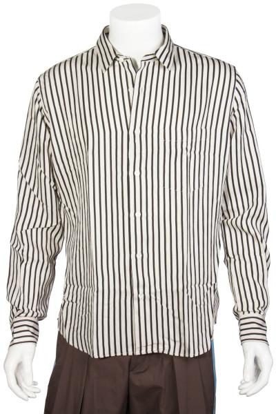 AMI Striped Shirt With Pocket