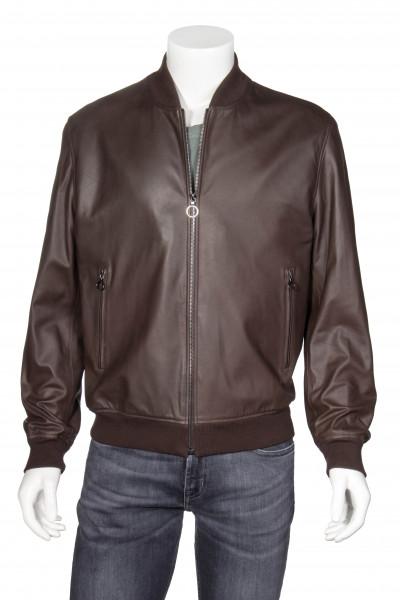 SERAPHIN Leather Bomber Jacket