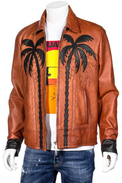 DSQUARED2 Leather Jacket Palms