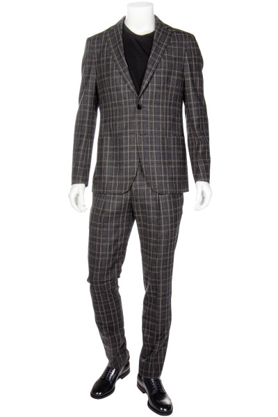 ETRO Wool Suit Checked