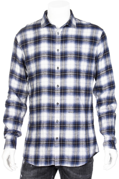 DSQUARED Checked Cotton Shirt