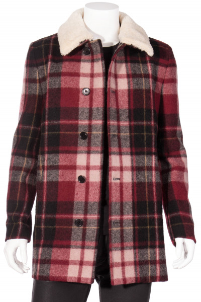 SAINT LAURENT Shearling Wool Coat