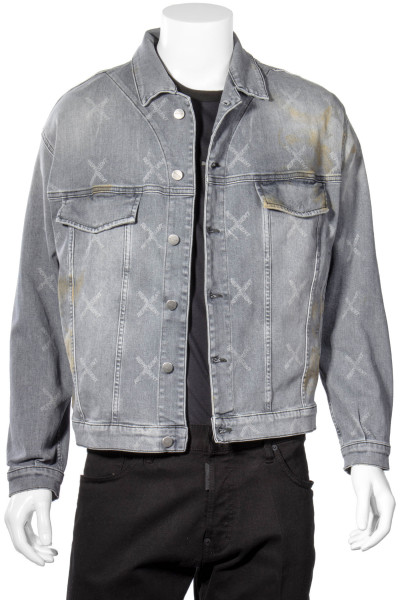 REPRESENT Patterned Denim Jacket