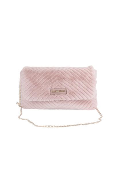 LOVE MOSCHINO Cross Body Bag Eco Fur Cipria