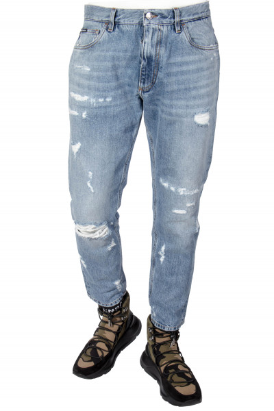 DOLCE & GABBANA Distressed Jeans Pocket Detail