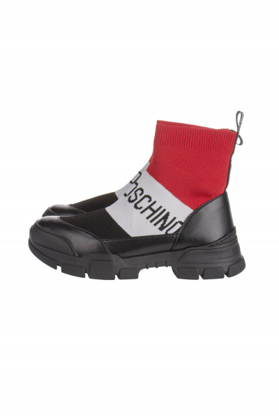 LOVE MOSCHINO High Sock Sneakers Logo