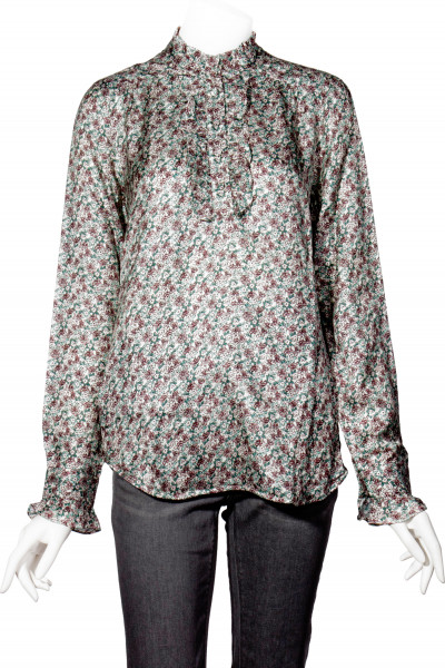 0039 ITALY Floral Print Blouse Alba Frill