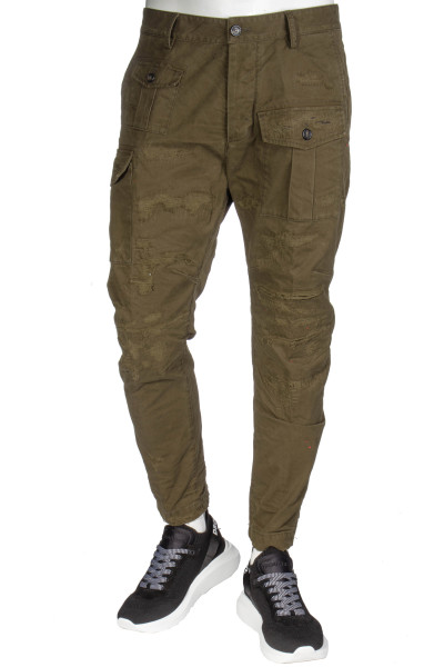 DSQUARED2 Distressed Chino Sexy Cargo Fit