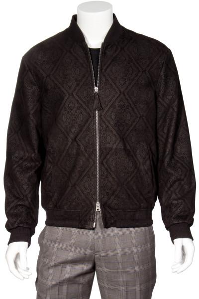 ETRO Patterned Leather Bomber Jacket