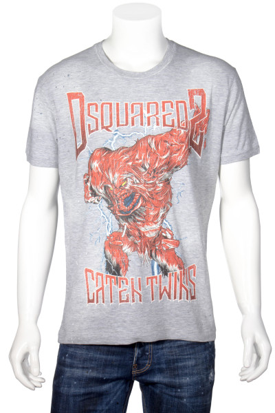 DSQUARED2 T-Shirt Caten Twins Print