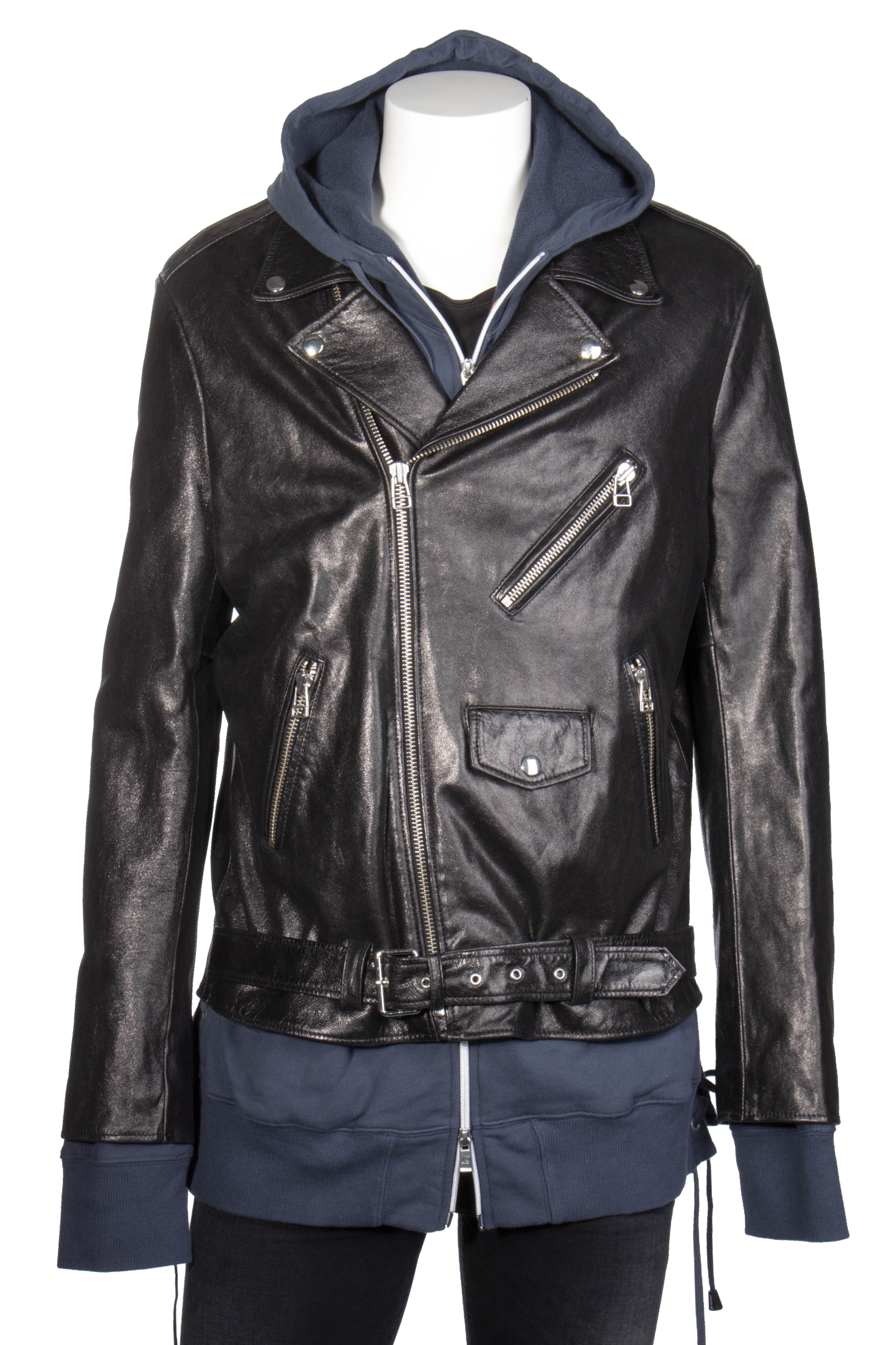 88098e4e8 FAITH CONNEXION Scud Leather Biker Jacket