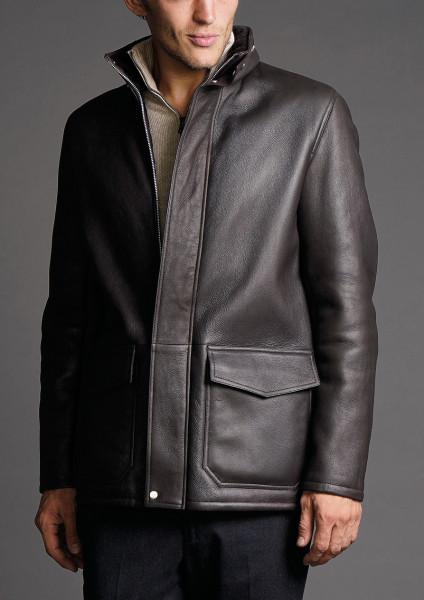 SERAPHIN Leather Sheep Fur Jacket