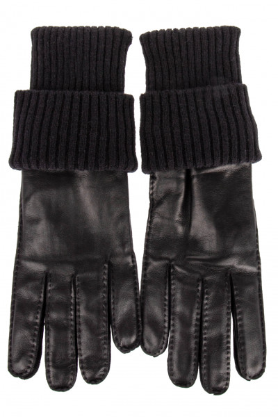 AMI Leather and Wool Gloves