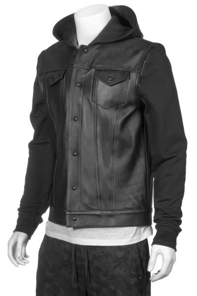 RH45 Hooded Leather Jacket