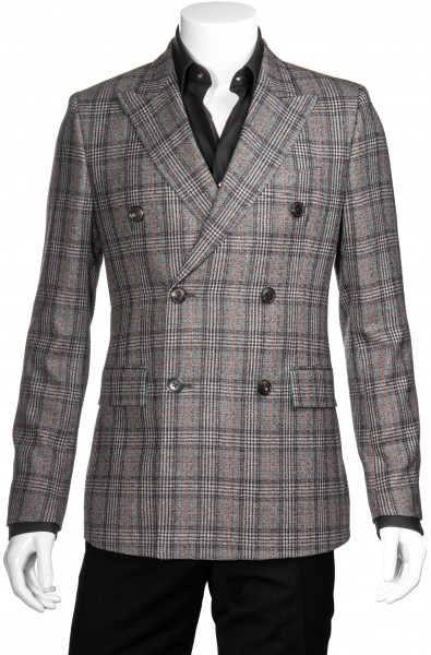 PAUL SMITH Wool Double Breasted Blazer Checked