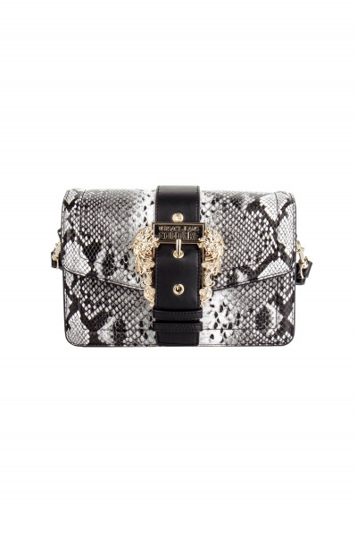 VERSACE JEANS COUTURE Python Embossed Crossbody Bag