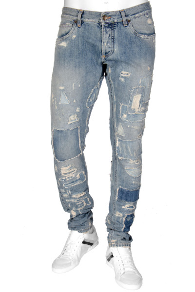 DOLCE & GABBANA Jeans 14 Gold Distressed