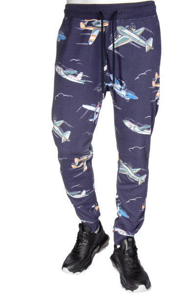 LOVE MOSCHINO Sweatpants Airplane Print