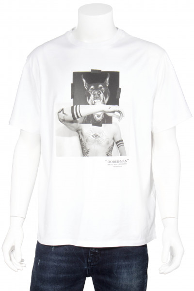 NEIL BARRETT Doberman Printed T-Shirt