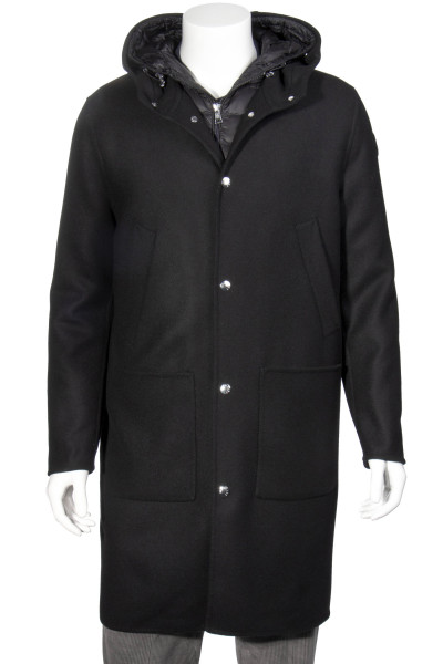 MONCLER Hooded Wool Coat Callao 2 in 1