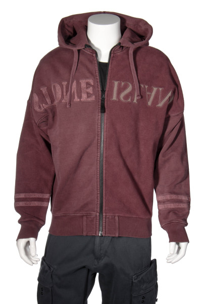 STONE ISLAND Logo Hooded Zip Sweat Jacket