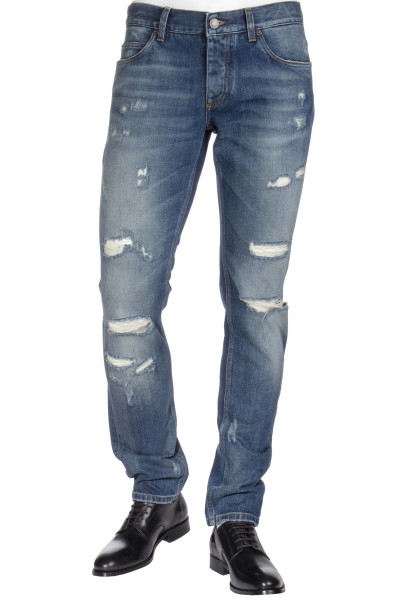 DOLCE & GABBANA Jeans Classic Fit Distressed