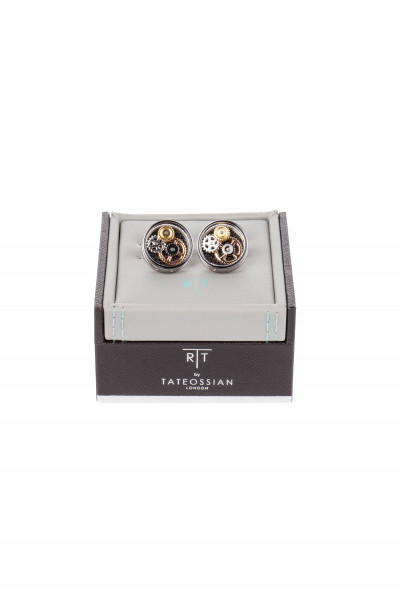 TATEOSSIAN Round Gear Cufflinks