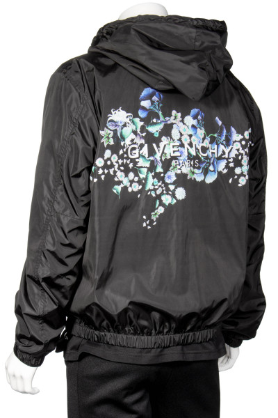 GIVENCHY Floral Backprint Windbreaker