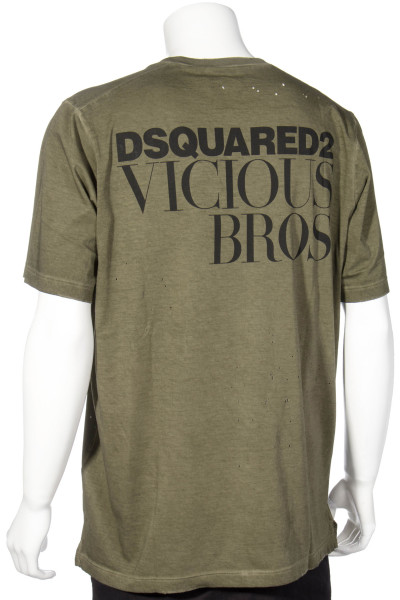 DSQUARED2 V-Neck T-Shirt Back Print