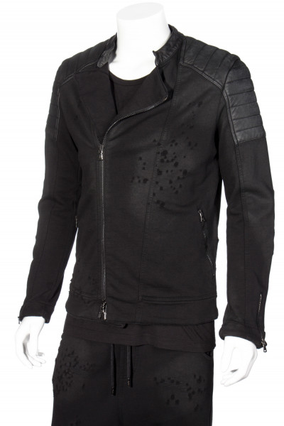 RH 45 Sweat Biker Jacket leather Details