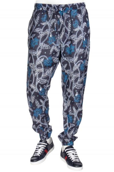 ETRO Linen Pants Floral Print