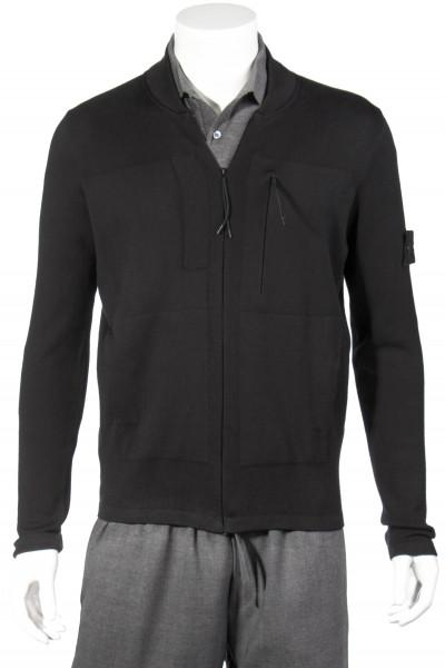 STONE ISLAND Ghost Piece Cotton Knit Zip-Jacket