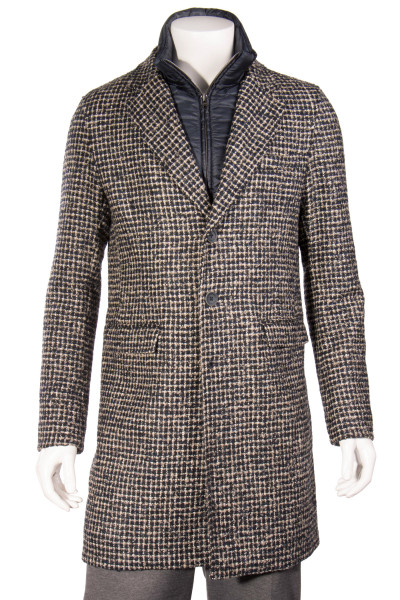 HERNO Wool Mix Coat With Quilted Lining