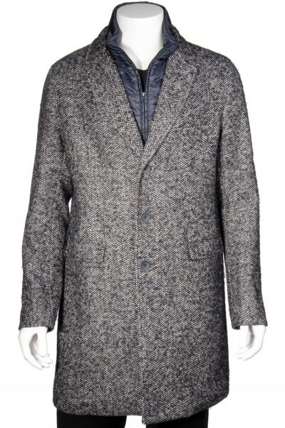 HERNO Diagonal Wool Blend Coat