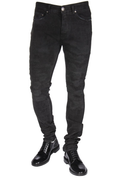 ETRO Printed Distressed Jeans