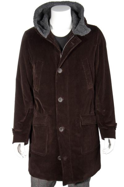 HERNO Hooded Corduroy Coat