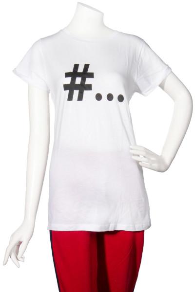 ROQA T-Shirt Hashtag Print